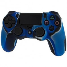 Pro Soft Silicone Protective Cover With Ribbed Handle Grip Blue Camo Ps4 - Consola PlayStation