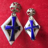 2 insigne argint rare Rusia tarista-academia din ST. PETRERSBURG - Insigna, Europa
