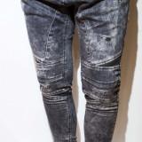 Blugi tip Zara Man- blugi barbati blugi conici blugi negri blugi slim fit cod 54