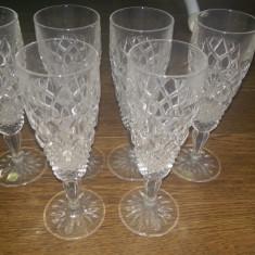 Set 6 pahare cristal Bohemia realizate manual in Cehia