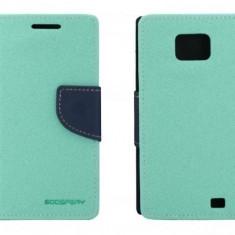 Husa Flip Cover Goospery YFSAMGS2TA My-Fancy mint / albastru pentru Samsung Galaxy S2 I9100 - Husa Telefon