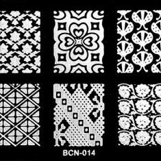 Matrita metalica pentru unghii Placuta medie Model BCN 14 - Unghii modele