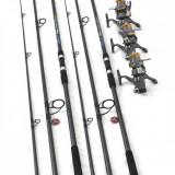 Set 3 Lansete Crap 3, 6 m Cu Mulinete KW50 Long Cast Si Baitrunner - Lanseta, Numar elemente: 3