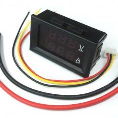 Voltampermetru c.c. cu afisaj LED dual, 100V, 10A, DSN-VC288 - Voltmetru