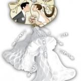 3 Clopotei decorativi NUNTA - Decoratiuni nunta
