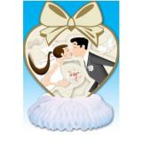 Decoratiune pentru masa nunta cununia civila ceremonii 21x26cm - Decoratiuni nunta