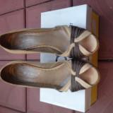 Sandale cu platforma - Sandale dama, Marime: 40, Culoare: Bej