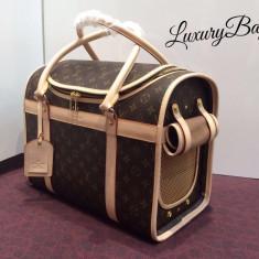Geanta Louis Vuitton Dog Carrier Fashion ZOO 2016 * LuxuryBags * - Geanta Dama Louis Vuitton, Culoare: Din imagine, Marime: Masura unica, Geanta de umar, Piele