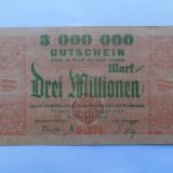 GERMANIA 3 Millionen Mark 1923 Dresden VF - bancnota europa