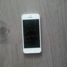 iPhone 5 Apple touch screen defect, Alb, 16GB, Neblocat