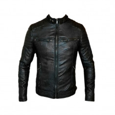 Geaca Zara Office Model Casual SlimFit Cod Produs 9119 - Geaca barbati Zara, Marime: S, M, L, XL, Culoare: Negru, Piele