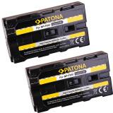PATONA   2 Acumulatori compatibili Sony NP-F550 NP F550 NPF550   2000mAh