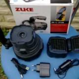 Lanterna TTG ZUKE-2128 1W LED CU PANOU SOLAR ACUMULATOR REINCARCABILA PRIZA+ AUTO