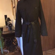 Haina cu blana, lunga, de dama PRADA autentica - Palton dama Prada, Marime: Alta, Culoare: Din imagine