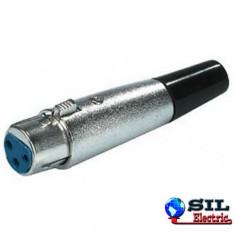 Mufa XLR 3 pini mama - Cablu retea