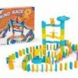 Joc educativ - Joc pentru copii Domino cu rampa bile 113 piese