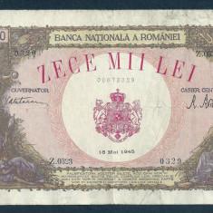 Bancnote Romanesti, An: 1945 - ROMANIA 10000 10.000 LEI 18 MAI 1945 [27]