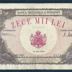 Bancnote Romanesti, An: 1945 - ROMANIA 10000 10.000 LEI 18 MAI 1945 [17]
