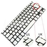 Tastatura Laptop Dell WXYWV argintie iluminata layout UK + CADOU