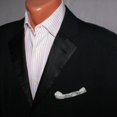 Sacou barbati HUGO BOSS Red Label smoking tuxedo marimea 48 rever satin, Culoare: Negru, 3 nasturi, Normal, Bumbac