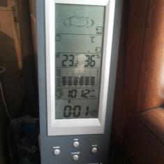 Statie meteo cu ceas, barometru, termometru si higrometru