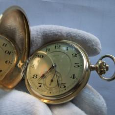 Ceas de buzunar aur 14k 3 capace.