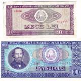 3) Lot 2 bancnote 10 lei 1966+100 lei 1966 circulate