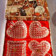 Set - Scrumiere - Cristal - West Germany - cutie originala - Scrumiera sticla