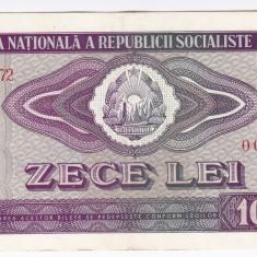 3) Bancnota 10 Lei 1966 VF+/XF, An: 1966