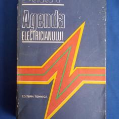 E. PIETRAREANU - AGENDA ELECTRICIANULUI - EDITIA A IV-A, REVAZUTA - 1986 - Carti Energetica
