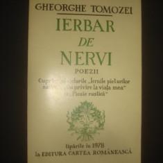 Gheorghe Tomozei - Ierbar de nervi