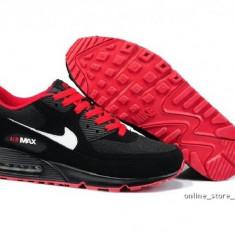 Adidasi Nike AIR MAX AIRMAX 90.Negru-Rosu. - Adidasi barbati Nike, Marime: 39, 40