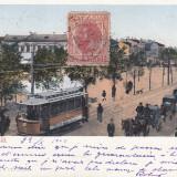 BRAILA, PIATA REGALA, TAMVAI, TRASURI, CLASICA, TCV, CIRCULATA OCT. 1902 - Carte Postala Muntenia pana la 1904, Braila, Circulata, Printata