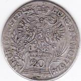 Austria, 20 Kreuzer 1761 argint Maria Theresa, superba, Europa