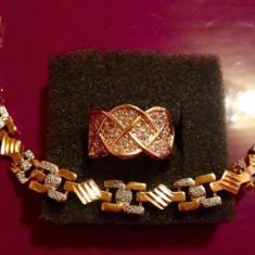 Set bijuterii placate cu aur - Set filat in aur de 24 k