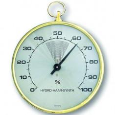Higrometru cu fir de par sintetic si inel de alama - Termometru Auto