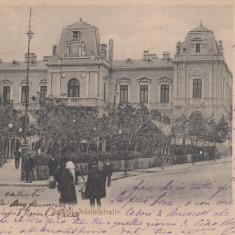 SLATINA, PALATUL ADMINISTRATIV, CIRCULATA, STAMPILA IUN. '905 - Carte Postala Oltenia pana la 1904, Printata