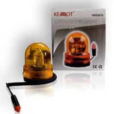 Girofar Auto - Girofar lumina portocalie rotativa 12V sau 24V fixare cu magnet