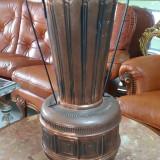 superb suport vechi pentru umbrele si bastoane din cupru gravat /amfora /vaza