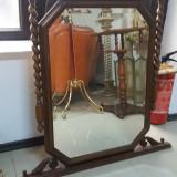 Mobilier - Oglinda veche din cristal bizotat cu rama din lemn masiv