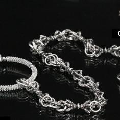 Lant blugi handmade Big Ring WHITE GOLD PLATED - Lantisor fashion
