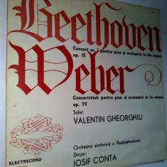 Muzica Clasica electrecord, VINIL - Disc vinil / vinyl - BEETHOVEN - Orchestra simfonica a Radiotv - Iosif Conta