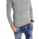 Bluza tip ZARA fashion gri deschis - bluza barbati - cod produs: 6004