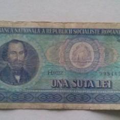 Bancnote Romanesti, An: 1966 - BANCNOTA 100 LEI 1966-ROMANIA [H.0122]