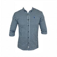 Camasa barbati - Camasa Polo Ralph Lauren, Alba, din Bumbac, Carouri, Groasa, Toate Mas C323