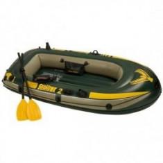 Barca pneumatice - Barca gonflabila pentru 2 persoane Seahawk II Intex 68347 cu vasle si pompa