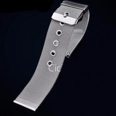 Bratara ceas 18 mm impletita curea ceas otel inoxidabil mash milaneza - Curea ceas din metal