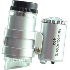 Mini microscop cu leduri 60 x