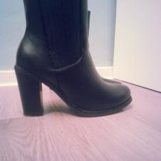 Botine dama - Botine negre cu toc