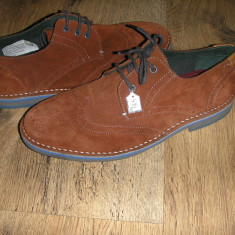 OFERTA! Pantofi oxford TED BAKER ORIGINALI noi piele intoarsa caramiziu Sz 41! - Pantofi barbati Ted Baker, Culoare: Teracota